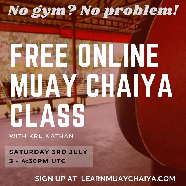 Free Muay Chaiya Zoom Class